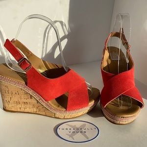 A. Giannetti Wedges Size 6.5 NWOT
